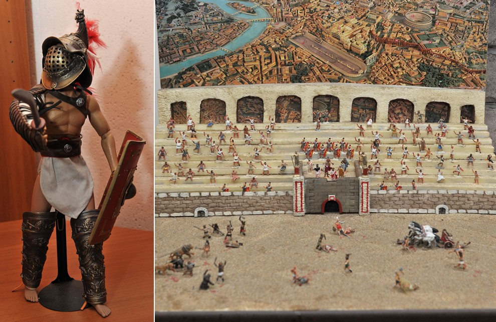 La Civiltà di Roma - I massacri nell'anfiteatro | Civica Galleria Figurino Storico